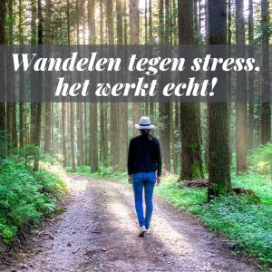 Wandelen tegen stress